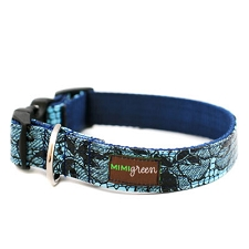 Medianoche Oilcloth Dog Collar by Mimi Green