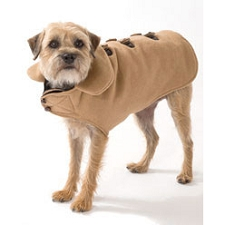 Melton Wool Dog Coat- Camel