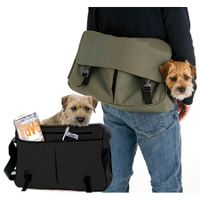 Messenger Bag Dog Carrier - Brown, Green, Orange