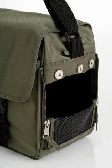 Messenger Bag Dog Carrier Black Brown Green Designer Pet Carriers At Glamourmutt