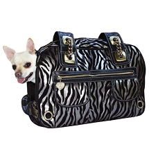 Metallic Zebra Pet Carrier