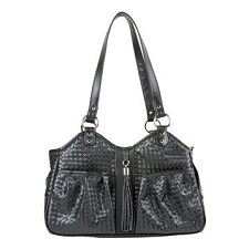 Metro Black Woven Carrier with Tassel