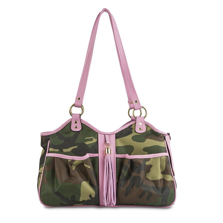 Petote Metro Carrier With Tassel Camo And Pink Glamour Mutt