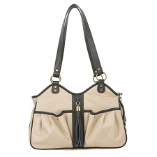 Metro Carrier with Tassel- Khaki and Black