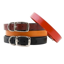 Metro Leather Dog Collars - Classic Colors