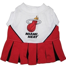 Miami Heat Cheerleader Dog Dress