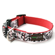 Mi Corazon Oilcloth Dog Collar