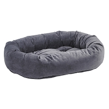 Microvelvet Donut Dog Bed- Amethyst Grey