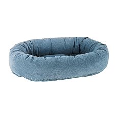 Microvelvet Donut Dog Bed- Bluestone