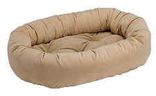 Microvelvet Donut Dog Bed- Camel