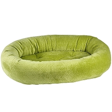 Microvelvet Donut Dog Bed- Key Lime