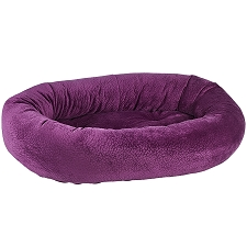 Microvelvet Donut Dog Bed- Magenta