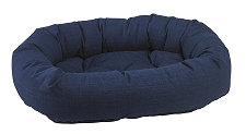 Microvelvet Donut Dog Bed- Midnight Linen