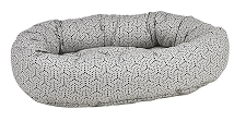 Microvelvet Donut Dog Bed- Milky Way Jacquard
