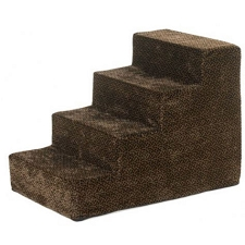 Luxury Microvelvet Pet Steps - Chocolate Bones