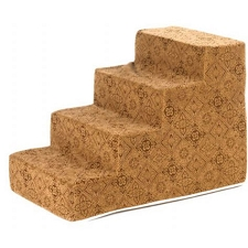 Luxury Microvelvet Pet Steps - Pecan Filigree