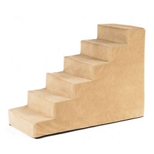 Luxury Microvelvet Pet Steps - Saddle
