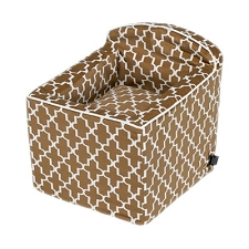 Microvelvet Car Booster Seat for Dogs - Cedar Lattice