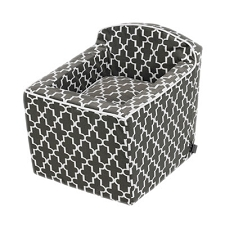 Microvelvet Car Booster Seat for Dogs - Graphite Lattice