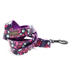 Jasmine Laminated Cotton Dog Leash
