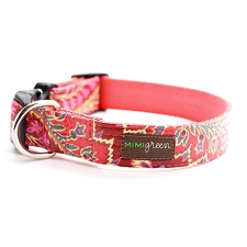 Sweet Pea Laminated Cotton Dog Collar