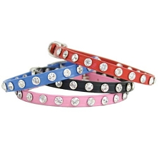 Maggie Swarovski Crystal Leather Collars - Four Colors