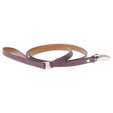 Purple Miranda Leather Dog Leash by Hamish McBeth
