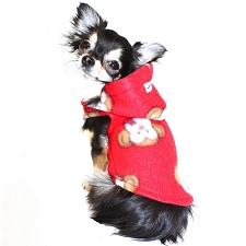 Polar Fleece Dog Hoodie - Monkey