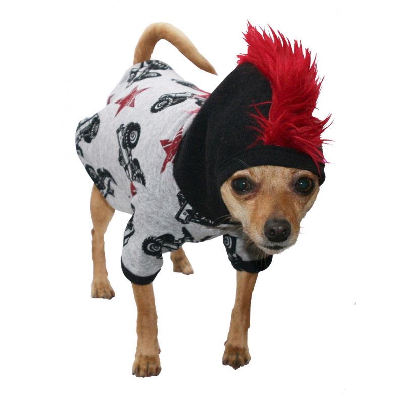 Monster Truck Mohawk Dog Hoodie Designer Dog Boutique