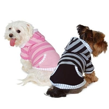 Multi Striped Dog Hoodie