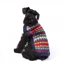 Multicolor Dream Handknit Alpaca Dog Sweater