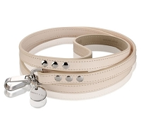 Vachetta Italian Patina Calf Leather Dog Leash - Natural