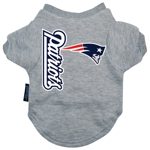 finest selection 1fe5c 8fb6c New England Patriots Dog Tee Shirt- Offically Licensed NFL Dog Clothes at  Glamourmutt.com