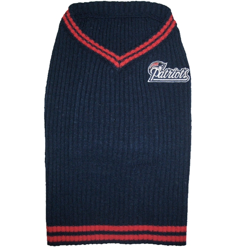 new product f7af2 c1507 New England Patriots Dog Sweater- Offically Licensed NFL Pet Clothes at  Glamourmutt.com