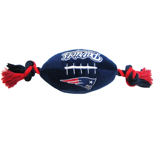 newest 7cff4 ea399 New England Patriots Football Dog Toy- Offically Licensed NFL Pet Gear at  Glamourmutt.com