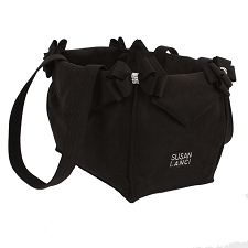 Nouveau Bow Dog Carrier by Susan Lanci- Black