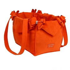 Nouveau Bow Dog Carrier by Susan Lanci- Orange