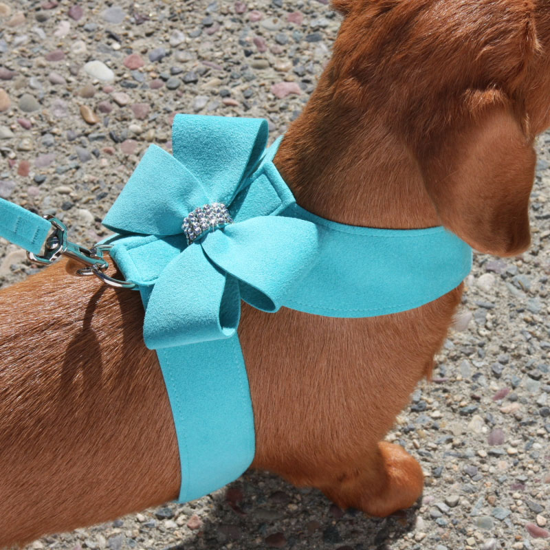 Susan Lanci Nouveau Bow Dog Harness Ultrasuede Harnesses