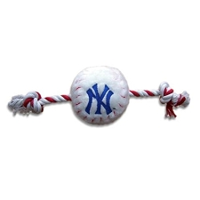 New York Yankees Rope Plush Dog Toy