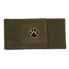 Olive Pawprint Wizzer Bellyband by Susan Lanci