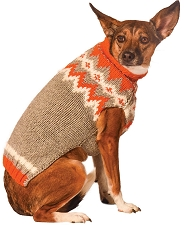 Orange Alps Fairisle Dog Sweater