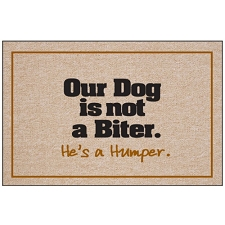 Our Dog is not a Biter - Doormat
