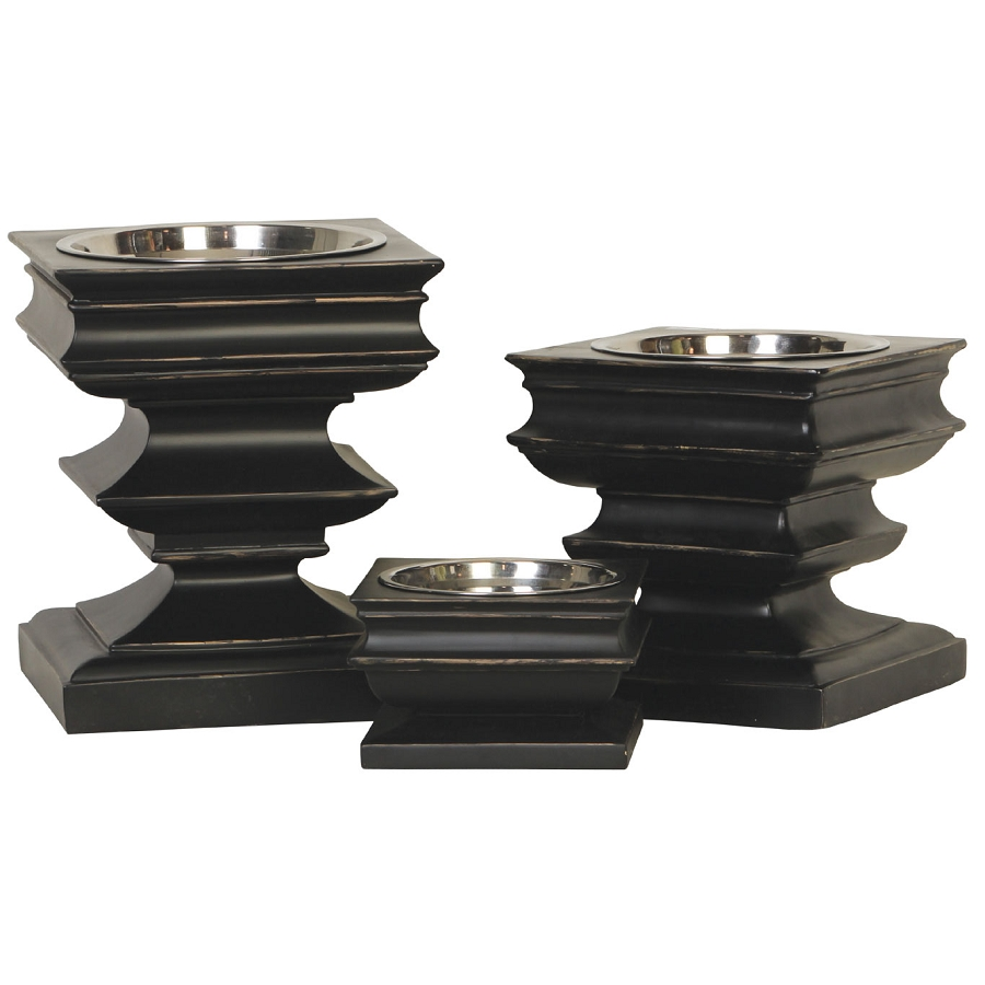 store double elevated single bowl in large view pet top x dog raised feeder black baron diner