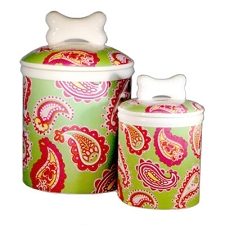 Palm Beach Paisley Treat Jars
