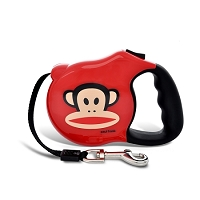 Julius Red Monkey Retractable Dog Leash by Paul Frank