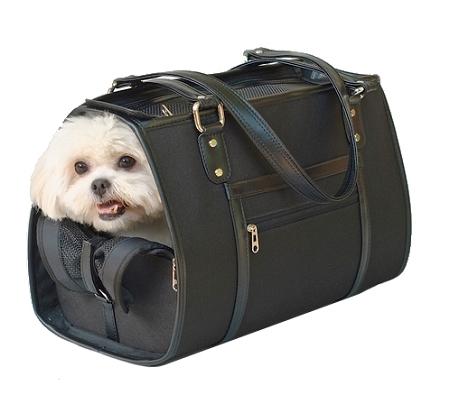Payton Dog Carrier By Petote Black Designer Dog Carriers