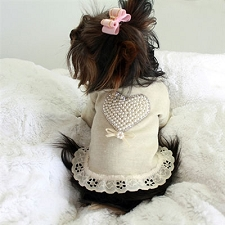 Pearl Heart Baby Dog Tee Dress