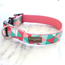 Penny Laminated Cotton Dog Collar