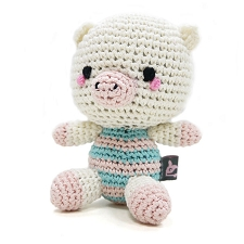 Pig Doll Cotton Knit Dog Toy