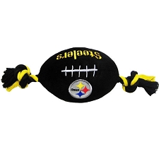 Pittsburgh Steelers Plush Football Dog Toy